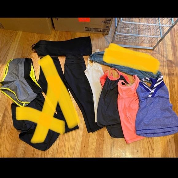 Lululemon lot of clothes, size 4